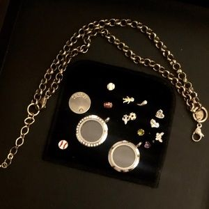 Origami Owl Bundle 16 Pieces Chain Lockets Charms